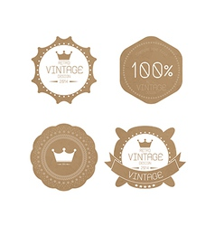 Set of grunge paper texture retro vintage badges vector