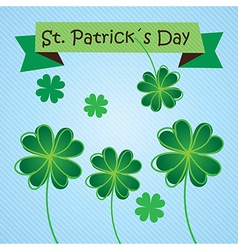 St patricks day concept on blue background vector
