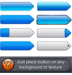 Blue high-detailed modern buttons vector