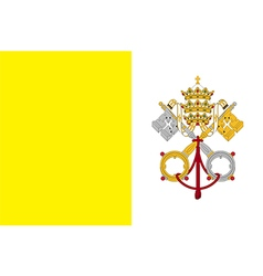 Flag of the vatican city vector