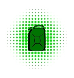 Metal canister comics icon vector
