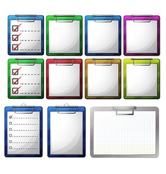Blank paper on clipboards vector