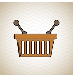 Basket shopping design vector
