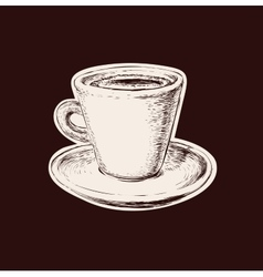 Hand drawn sketch coffee cup vector