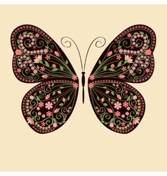 Floral decorative butterfly vector