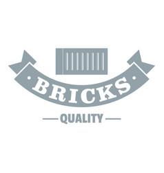 brick logo gray monochrome style vector image