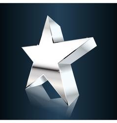 chrome star vector image