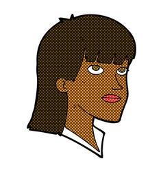 comic cartoon serious woman vector image vector image