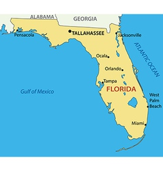 Florida - map vector image