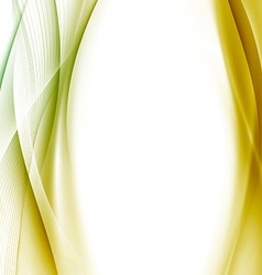 Golden swoosh wave background abstract template vector