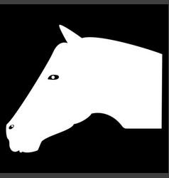Horse head the white color icon vector