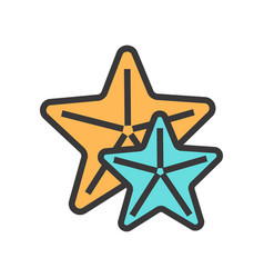 icon of star fishes great for mobile and vector image vector image