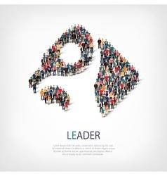 Leader people symbol vector