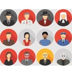 Mafia characters set vector