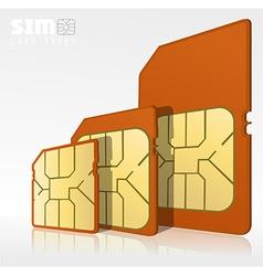 Sim card types vector image