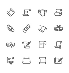 Simple Scrolls and Papers Icons vector image vector image