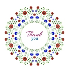 Thank youFloral Wreath vector image vector image