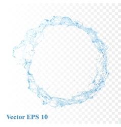 Water splash isolated vector