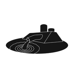 Water treatment plant icon in black style isolated vector image