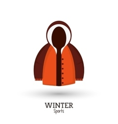 winter sport brown and orange jacket clothes vector image vector image