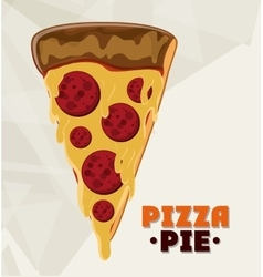 Pizza pie and fast food design vector