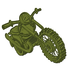 Green Motorcycle vector image