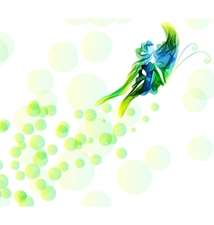 Abstract background with butterfly vector