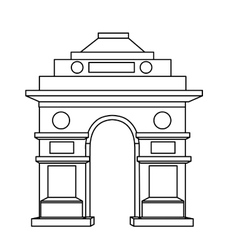 India gate delhi vector