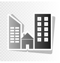 Real estate sign  new year blackish icon vector