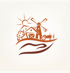 Agriculture and farm stylized symbol vector