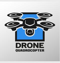 Drone quadrocopter logo vector