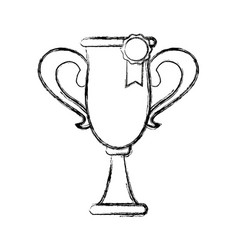 Trophy rosette award success honor icon vector