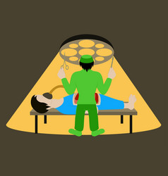 Medical concept surgeon in operation vector