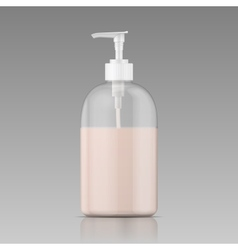Plastic bottle for liquid soap vector