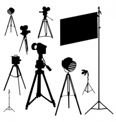 Cinematographic set traced vector