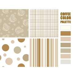 Fabric pattern set vector