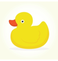Duck toy isolated vector
