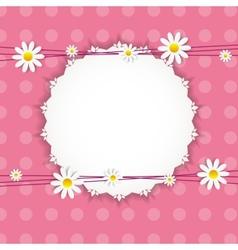Flora Daisy Framel Design vector image