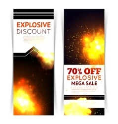 Explosion sale banners vector
