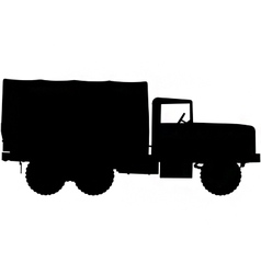 Army truck silhouette vector