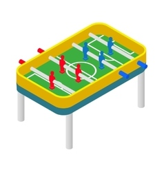 Table football icon isometric 3d style vector image