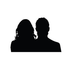 Couple silhouette in black vector