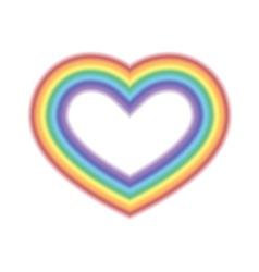 Rainbow icon heart white vector image