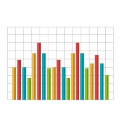 Growth statistics with graphics isolated flat icon vector