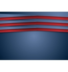 Abstract tech corporate blue and red background vector