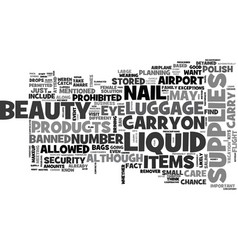 Are your beauty supplies banned text word cloud vector