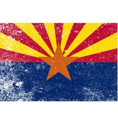 Arizona state flag grunge vector