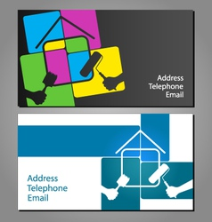 Business card for painting houses vector image vector image