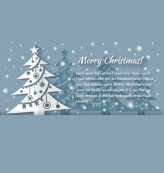 christmas tree applique background card vector image vector image