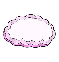 Comic cartoon decorative cloud vector